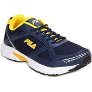 Fila Mesh Navy Yellow Sport Shoes -fl01