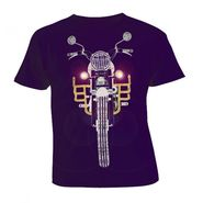 LitFab - Tshirts with Lights - Bullet - Navy