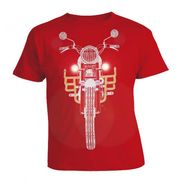 LitFab - Tshirts with LED - Bullet - Red