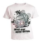 LitFab - Tshirts with Lights - Car - White