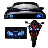 Set of 2 Angel Eye for Cars/Bike - Blue