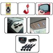 Combo Car Reverse Parking Sensors +Dvd Visor + Hanging Perfume + Blind Spot Mirror + Non Slip + Feng Shui For Car
