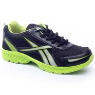Foot n Style Synthetic  leather Sports Shoes  FS426 - Black & Green