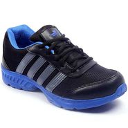 Foot n Style Synthetic  leather Sports Shoes  FS428 - Black & Blue