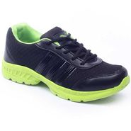 Foot n Style Synthetic  leather Sports Shoes  FS435 - Black & Green