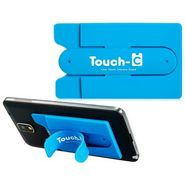 Flashmob Touch U Mobile Stand With Credit Card Holder - Blue