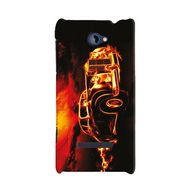 Snooky 19777 Digital Print Hard Back Case Cover For Htc 8s A620e - Black