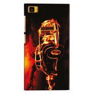 Snooky 20074 Digital Print Hard Back Case Cover For Xiaomi Mi3 - Black