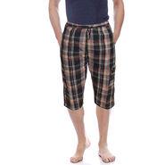 Delhi Seven Cotton Checks Capri For Men_D7Cg012 - Multicolor