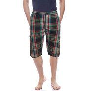 Delhi Seven Cotton Checks Capri For Men_D7Cg021 - Multicolor