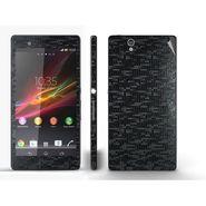 Snooky Mobile Skin Sticker For Sony Xperia Z 20834 - Black