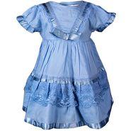 ShopperTree Blue Cambric Lace Dress_ST-1418