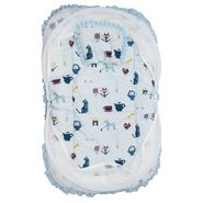 Wonderkids Blue Multi Print Baby Bedding Set With Mosquito Net_MW-182-BPBMS
