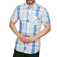 Sparrow Clothings Cotton Checks Shirt_wjc05 - Blue