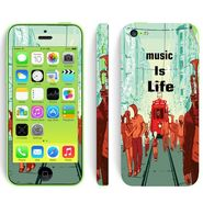 Snooky 28386 Digital Print Mobile Skin Sticker For Apple Iphone 5C - Multi