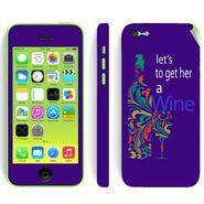 Snooky 28381 Digital Print Mobile Skin Sticker For Apple Iphone 5C - Purple