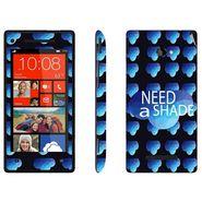Snooky 28171 Digital Print Mobile Skin Sticker For HTC 8X C620E - Blue