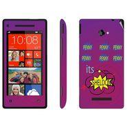 Snooky 28173 Digital Print Mobile Skin Sticker For HTC 8X C620E - Purple
