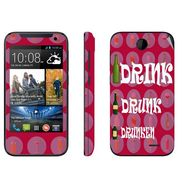 Snooky 27801 Digital Print Mobile Skin Sticker For HTC Desire 310 - Rose Pink