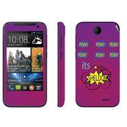 Snooky 27817 Digital Print Mobile Skin Sticker For HTC Desire 310 - Purple