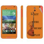 Snooky 28095 Digital Print Mobile Skin Sticker For HTC Desire 610 - Orange