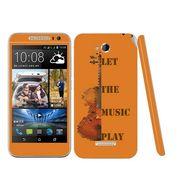Snooky 28205 Digital Print Mobile Skin Sticker For HTC Desire 616 - Orange
