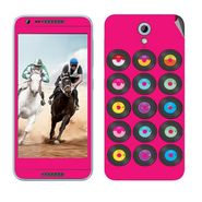 Snooky 28231 Digital Print Mobile Skin Sticker For HTC Desire 820 mini - Pink