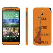 Snooky 28259 Digital Print Mobile Skin Sticker For HTC One E8 - Orange