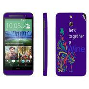 Snooky 28246 Digital Print Mobile Skin Sticker For HTC One E8 - Purple