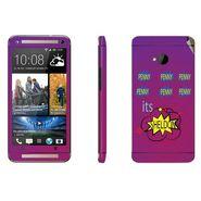 Snooky 28281 Digital Print Mobile Skin Sticker For HTC One M7 - Purple