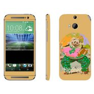 Snooky 28139 Digital Print Mobile Skin Sticker For HTC One M8 - Yellow