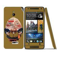 Snooky 28303 Digital Print Mobile Skin Sticker For HTC One mini - Multi