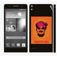Snooky 28341 Digital Print Mobile Skin Sticker For Huawei Ascend P6 - Black