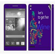 Snooky 28327 Digital Print Mobile Skin Sticker For Huawei Ascend P6 - Purple