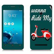 Snooky 27643 Digital Print Mobile Skin Sticker For Asus Zenfone 5 A501CG - Green