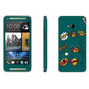 Snooky 28271 Digital Print Mobile Skin Sticker For HTC One M7 - Green