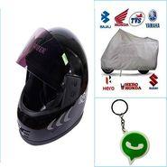 Combo of Universal Bike Body Cover + Helmet-CD 25615-2