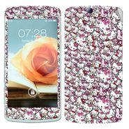 Snooky 38798 Digital Print Mobile Skin Sticker For Oppo N1 - Pink