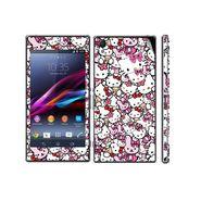 Snooky 38829 Digital Print Mobile Skin Sticker For Sony Xperia Z1 - Pink