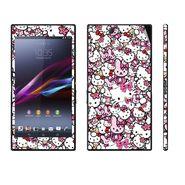 Snooky 38833 Digital Print Mobile Skin Sticker For Sony Xperia Z Ultra - Pink