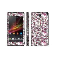 Snooky 38835 Digital Print Mobile Skin Sticker For Sony Xperia ZR C5502 - Pink