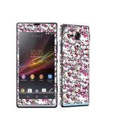 Snooky 38836 Digital Print Mobile Skin Sticker For Sony Xperia SP C5302 - Pink