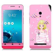 Snooky 38844 Digital Print Mobile Skin Sticker For Asus Zenfone 5 - Pink