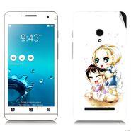Snooky 38845 Digital Print Mobile Skin Sticker For Asus Zenfone 5 - White
