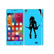 Snooky 38866 Digital Print Mobile Skin Sticker For Gionee Elife S5.1 - Blue