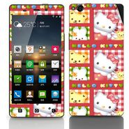 Snooky 38886 Digital Print Mobile Skin Sticker For Gionee Elife E6 - Pink