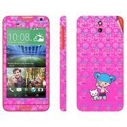 Snooky 38931 Digital Print Mobile Skin Sticker For HTC Desire 610 - Pink