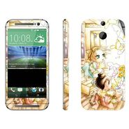 Snooky 38945 Digital Print Mobile Skin Sticker For HTC One M8 - White