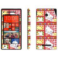 Snooky 38958 Digital Print Mobile Skin Sticker For HTC 8X - Pink