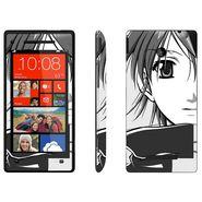 Snooky 38966 Digital Print Mobile Skin Sticker For HTC 8X - Gray